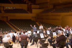 Kursaal, San Sebastian, Spain, during the rehearsal