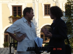 With conductor Alfredo Sorichetti, during the rehearsal, Italy, July, 2007