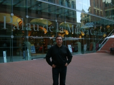 Spain, Barcelona, Palau de la Musica, after the rehearsal