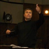 Vladimir Sheiko. In the Big Concert Recording Studio, during the rehearsal