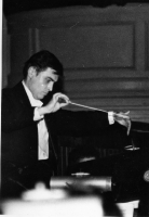 1988, Kiev, conductor Vladimir Sheiko, during performance