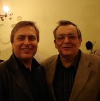 Vladimir Sheiko with composer Yevhen Stankovych