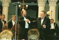Conductor Vladimir Sheiko and Oleksandr Saratskiy.