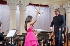Korea - Ukraine Friendship Concert. Soloist Yoon-Hee Kim (violin, Korea))