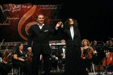 Algeria. VI International Festival of Symphonic Music. During the concert.Soloist Olena Shabelska