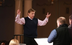 Vladimir Sheiko. The National Philharmonic of Ukraine. G Verdi. Requiem. During the rehearsal.