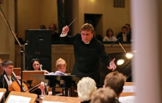 Vladimir Sheiko. Durind the concert. On the stage of the National music Academy of Ukraine