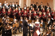 Ukrainian Radio Symphony Orchestra and Choir during the W.A.Mozart's