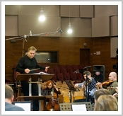 in-NRCU-Big-concert-studio-hall--the-working-moment-while-recording-conductor-Vladimir-Sheiko-Anna-Nuga-CELLO